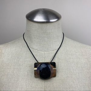 Vintage Two Tone Pendant Necklace